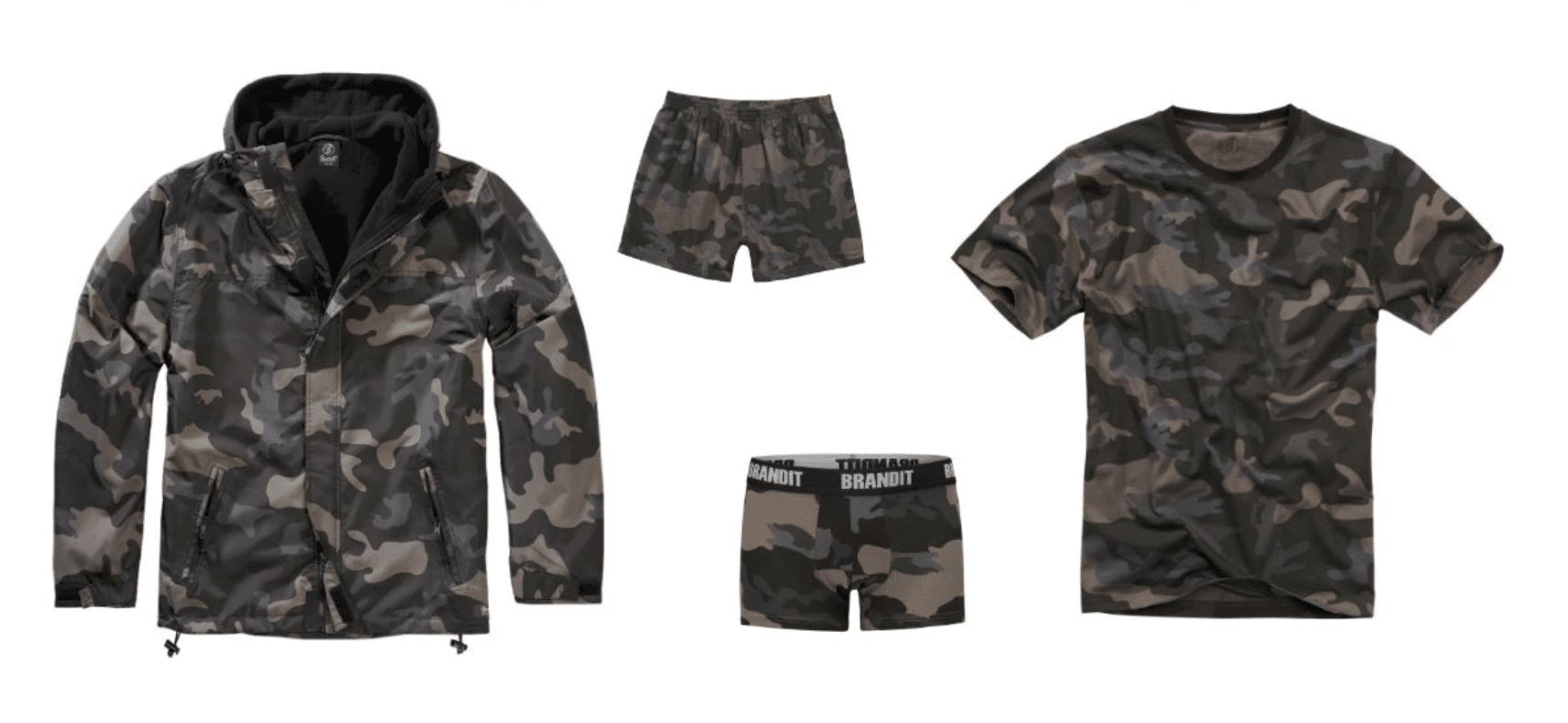 Vêtements mode militaire