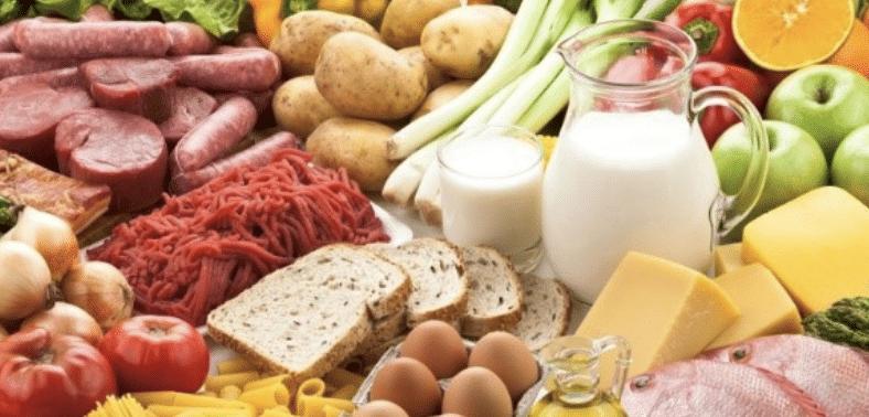 Légumes, fruits et viandes